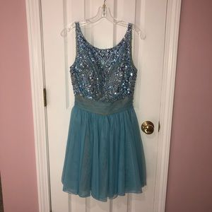 Semi formal Sherri Hill Beaded Dress size 8